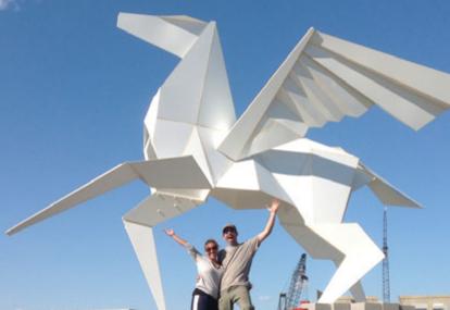 origami-sculpture